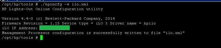 Resetting/Configuring the ILO password & Network using ESXi shell